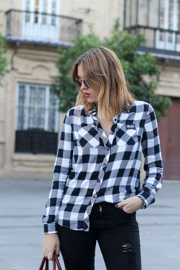 Superdry checked shirt