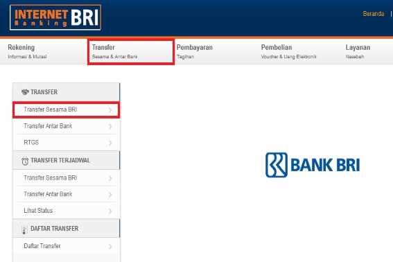 Cara Mentransfer Uang lewat Internet Banking BRI