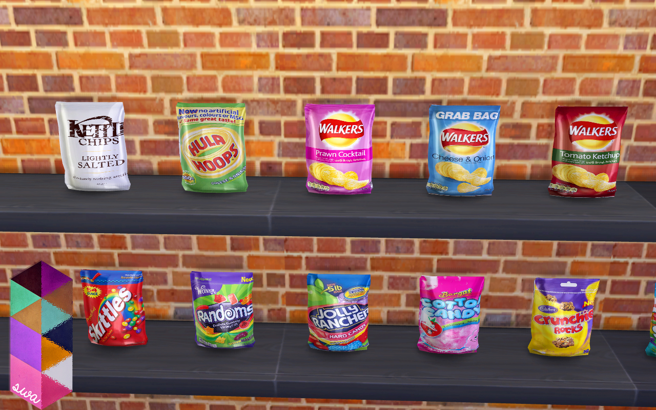 Totoro Home Decor My Sims 4 Blog Candy And Chips Clutter Set By Simmingwithabbi