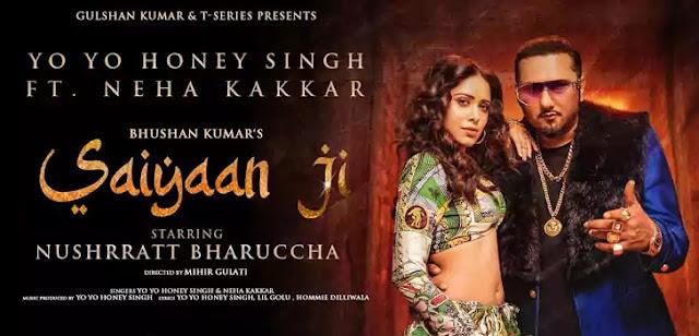 SAIYAAN JI LYRICS – Yo Yo Honey Singh x Neha Kakkar