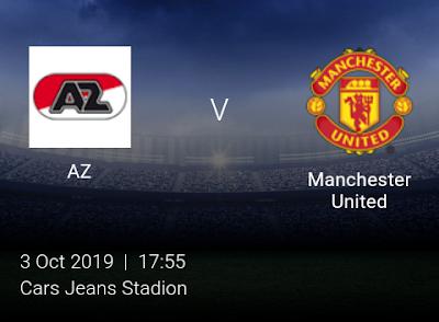 LIVE MATCH: AZ Vs Manchester United UEFA Europa League 03/10/2019