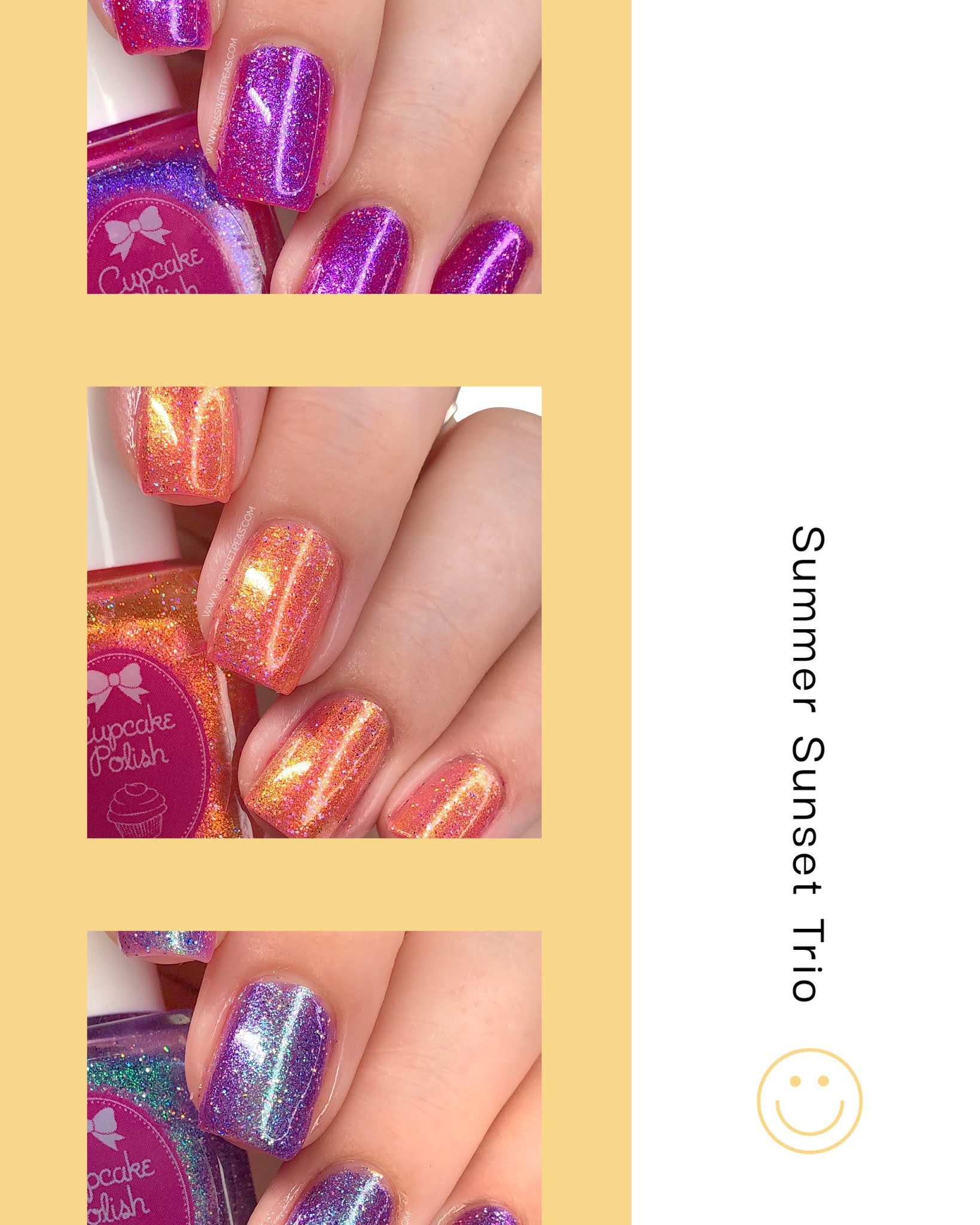 Cupcake Polish Summer Sunset Trio