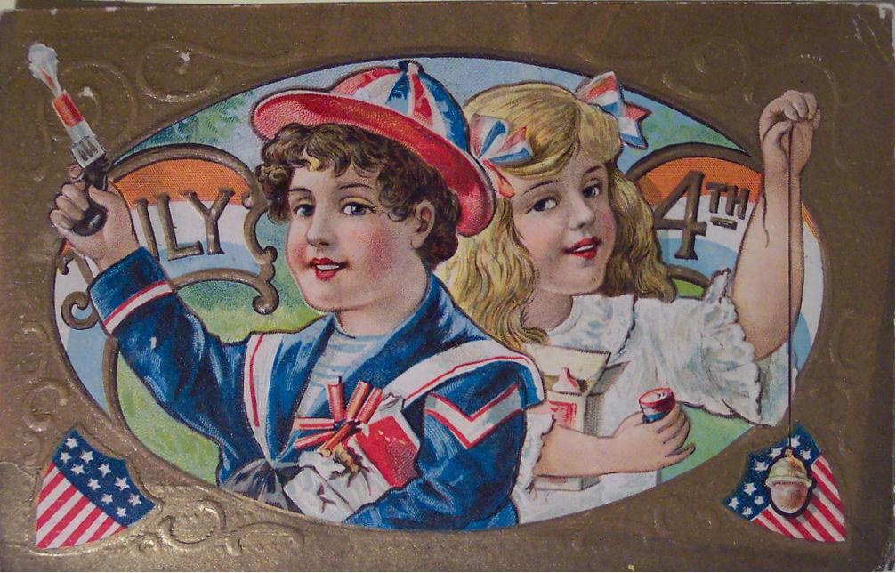 Старые открытки сша, днем иван