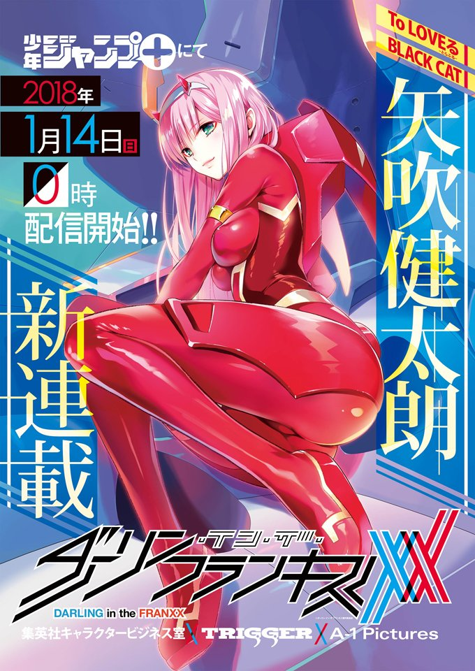 Mangá de Darling in the Franxx tem peitos a mostra