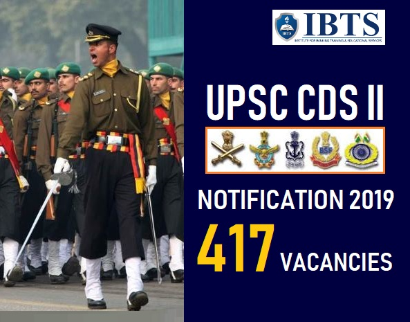 UPSC CDS II Notification 2019: 417 vacancies