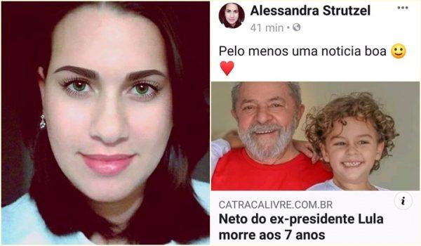 Blogueira que celebrou morte de neto de Lula agora pede ajuda com vaquinha para pagar indenização ao ex-presidente