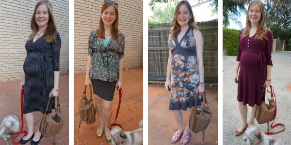 4 outfit ideas wearing the chloe marcie hobo bag in pregnancy | awayfromblue