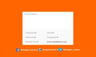 Cara Membuat Penghitung Kata (Word Counter) di Blog