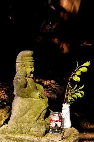 Ebisu statue in Kyushu, Japan.