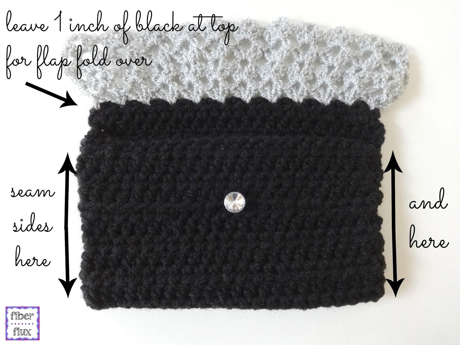 Fiber Flux Free Crochet Patternecious Metal Clutch