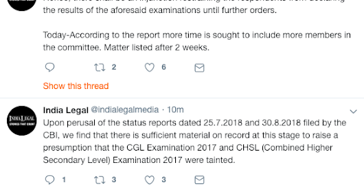 SSC CGL 2017 Supreme Court Case hearing Summary (29.01.2019)