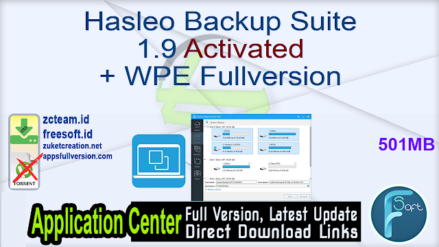 Hasleo Backup Suite 1.9 Activated + WPE Fullversion