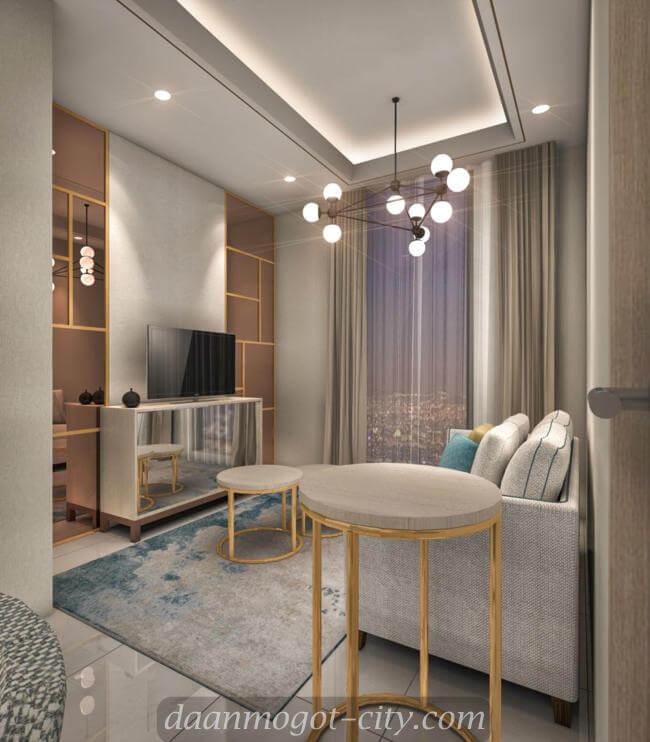 Contoh Design Studio Apartemen DAMOCI