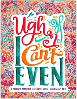 best stress relief gifts: snarky mandala adult coloring books