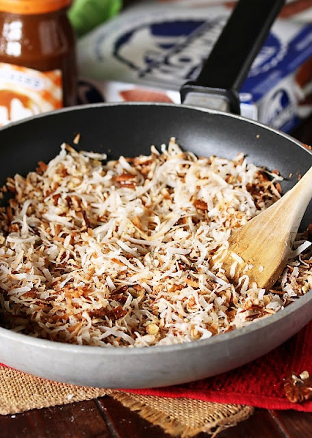 Skillet of Toasted Coconut Image