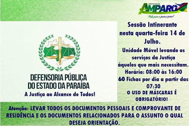 Defensoria Pública do Estado estará atendendo em Amparo na próxima quarta através do projeto Defensoria Itinerante
