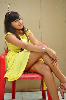 Anjana Deshpandey in yellow short dress spicy beauty cute pics