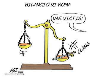 roma, bilancio, giunta raggi, vignetta satira