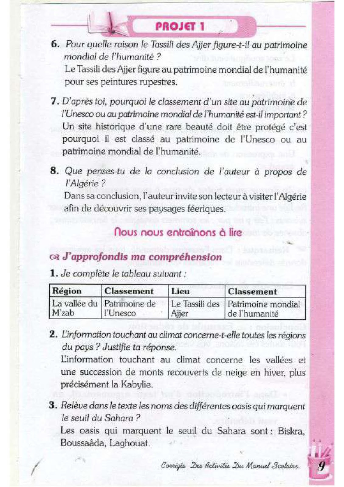 حل تمارين صفحة 13 الفرنسية للسنة الرابعة متوسط - الجيل الثاني | موقع  التعليم الجزائري - Dzetude