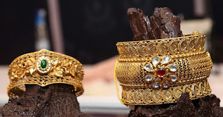 Broad Antique Designer Bangles