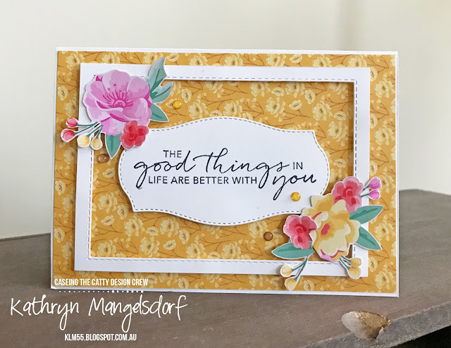 Stampin' Up! Flowers for Every Season Designer Series Paper created by Kathryn Mangelsdorf