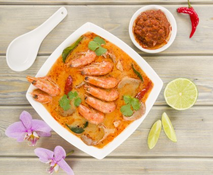 Curry and coconut shrimps (Thailand)