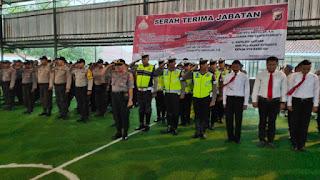 Kapolres Indramayu AKBP SUHERMANTO S.I.K., M.Si.,  Pimpin Langsung Giat Upacara  Sertijab Kasat Reskrim dan Kapolsek