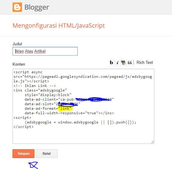 Cara Membuat Iklan Link Google Adsense
