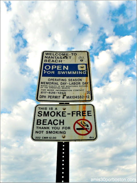 Prohibido Fumar en la Playa Nantasket Beach, Hull