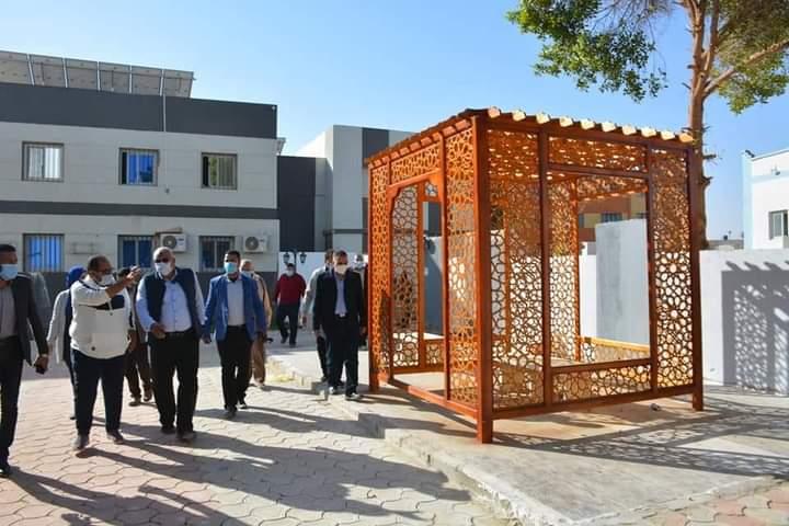 الزملوط يتابع أعمال إستكمال الإنشاءات بمركز دكتور حسن حلمي لذوي الاحتياجات الخاصة