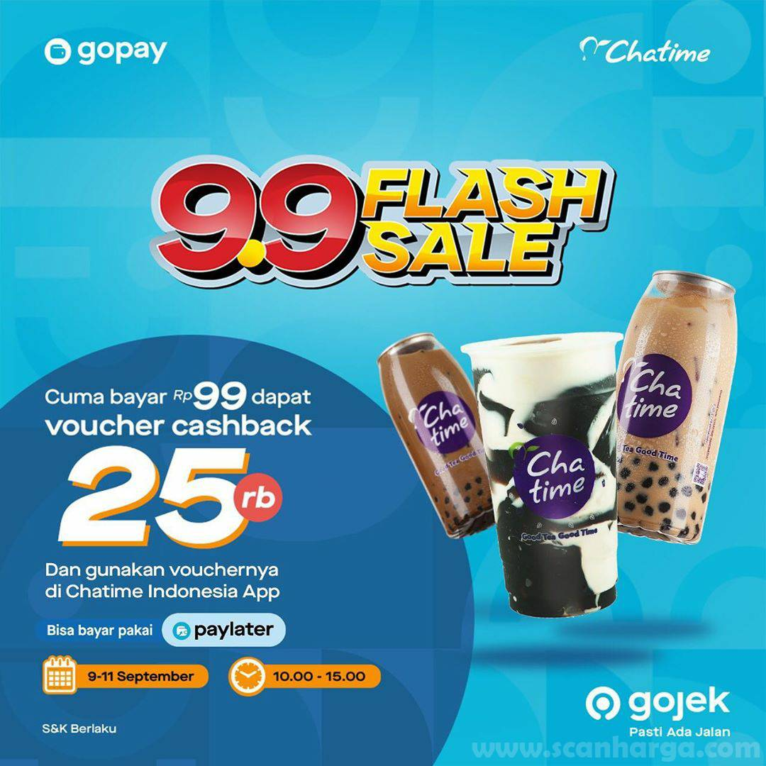 Chatime Promo Flash Sale 9.9 Periode 9 - 11 September 2020
