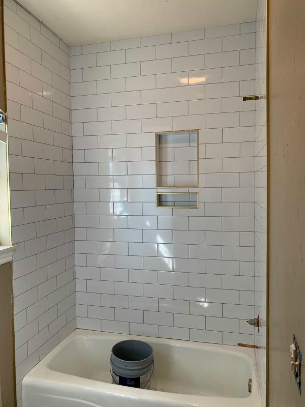 how do you finish shower tile edges