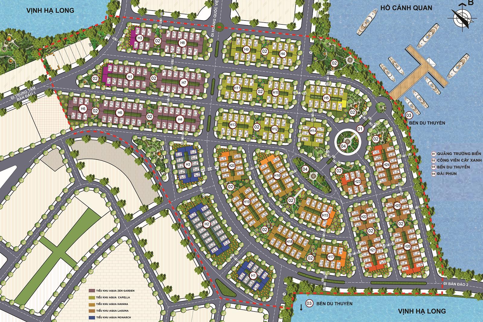 Mặt bằng tổng thể Dự án Shoptel Aqua City