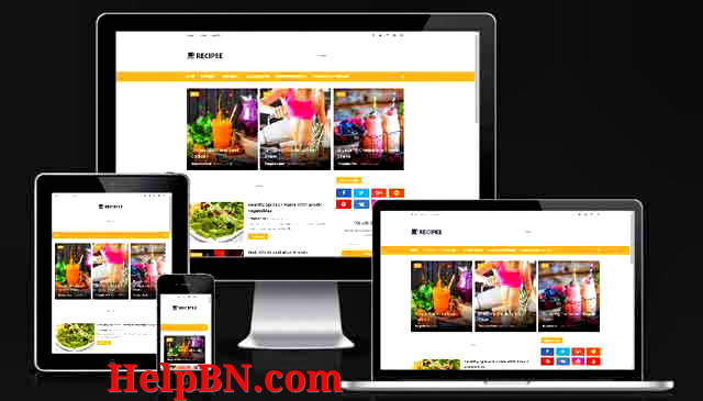 Recipee Food Blogger Template premium Version Free Download+Without footer Credit