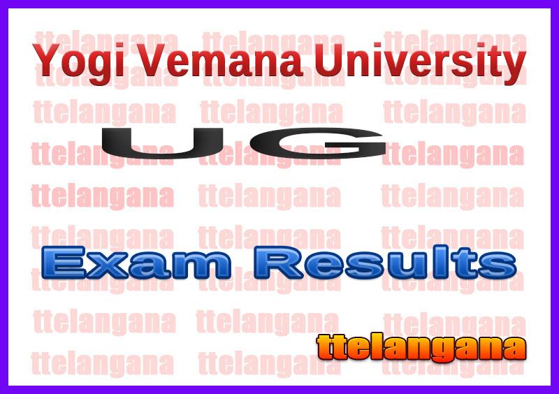 Yogi Vemana University UG Exam Result