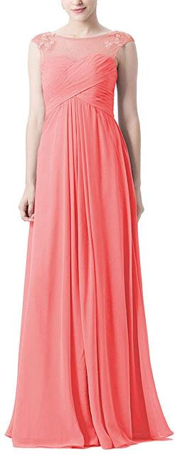 Discount Peach Chiffon Bridesmaid Dresses