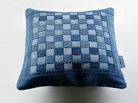 pillow, old denim