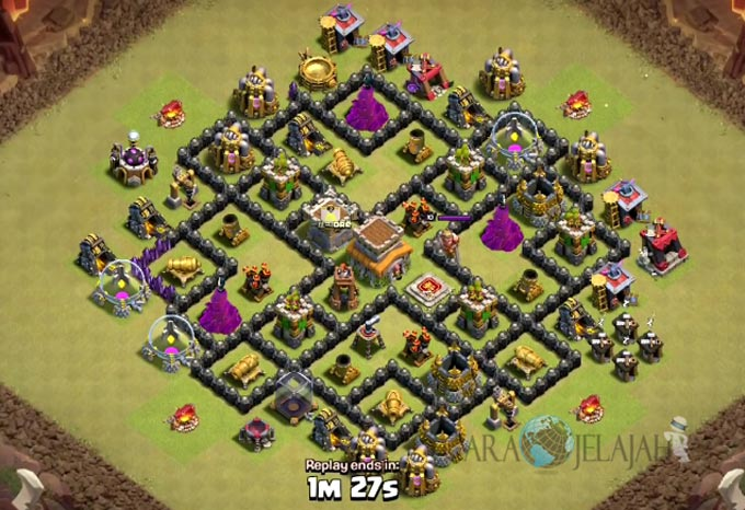 Base War TH 8 di Clash Of Clans Terbaru 2017 Tipe 23