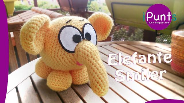 ipunts elefante amigurumi elephant crochet muñeco ganchillo facil patron
