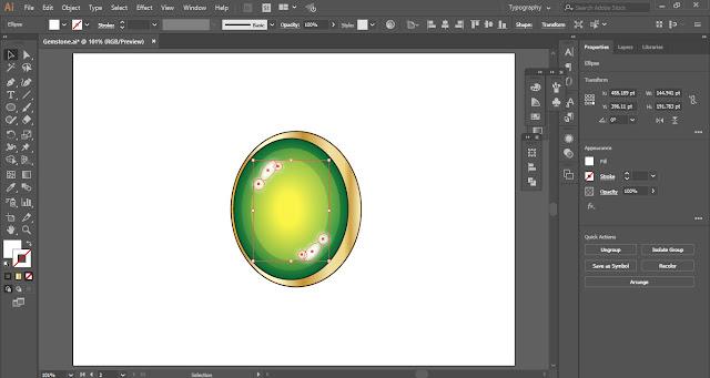 Gemstone in Adobe Illustrator