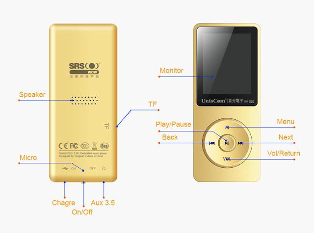 máy nghe nhạc màu vàng