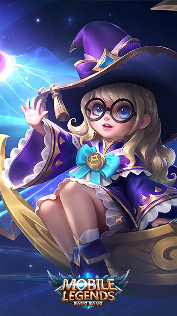 Wallpaper Chang'e Lunar Magic Skin Mobile Legends Full HD for Android and iOS
