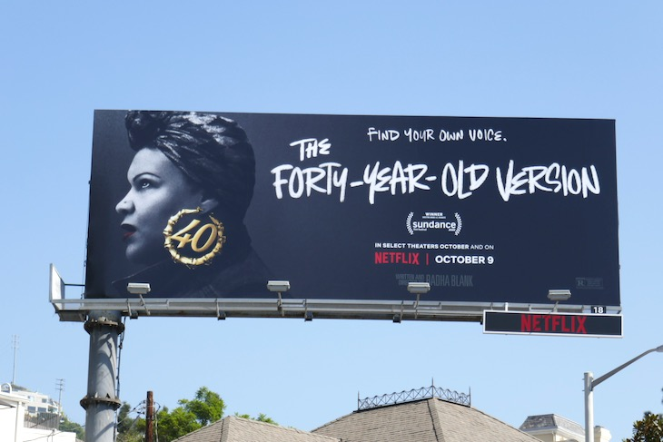 Forty Year Old Version movie billboard