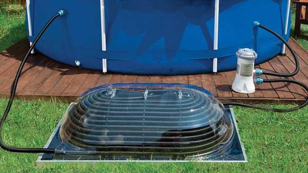 Chauffage solaire piscine for Chauffage bois pour piscine