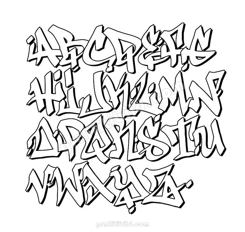 Graffiti schrift, graffiti abc, graffiti alphabet, graffiti schrift bilder