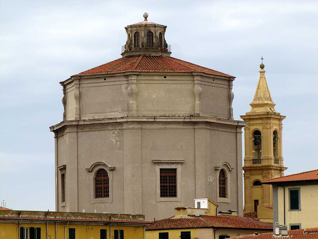 Bell tower and dome of the church of Santa Caterina, Livorno