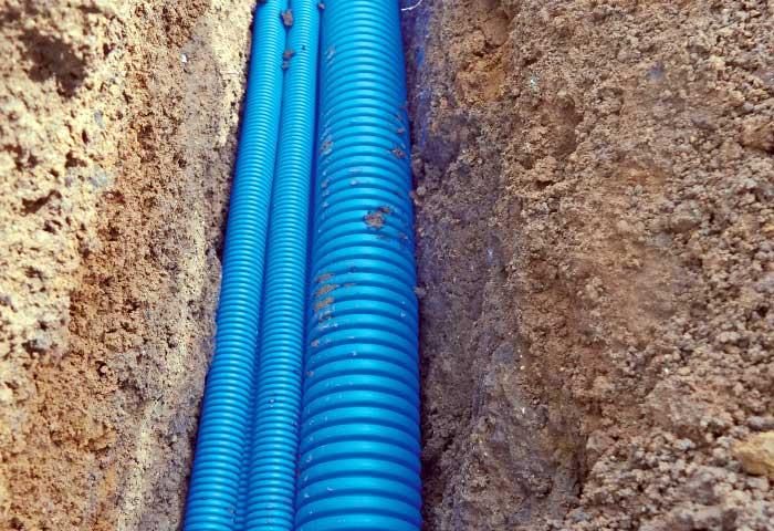 Instalaciones eléctricas residenciales - Tubería subterránea para telecomunicaciones