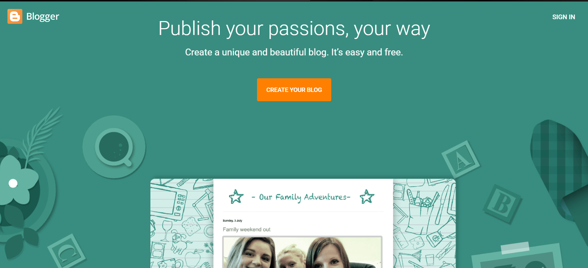 Start your Blogging with Blogger