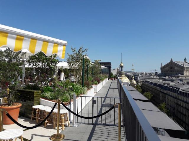 Perruche restaurant terrasse rooftop grands magasins Printemps boulevard Haussmann Paris