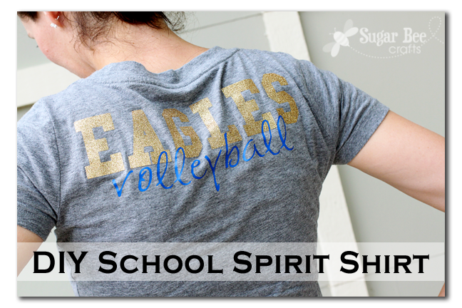 Diy School Spirit Shirt Sugar Bee Crafts